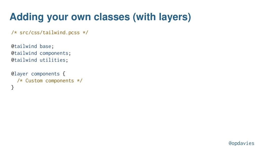 Adding your own classes (with layers) /* src/cs...