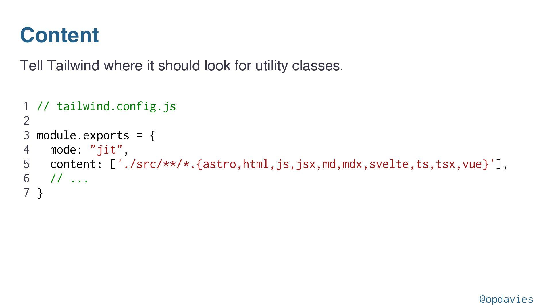 Overriding configuration module.exports = { pur...