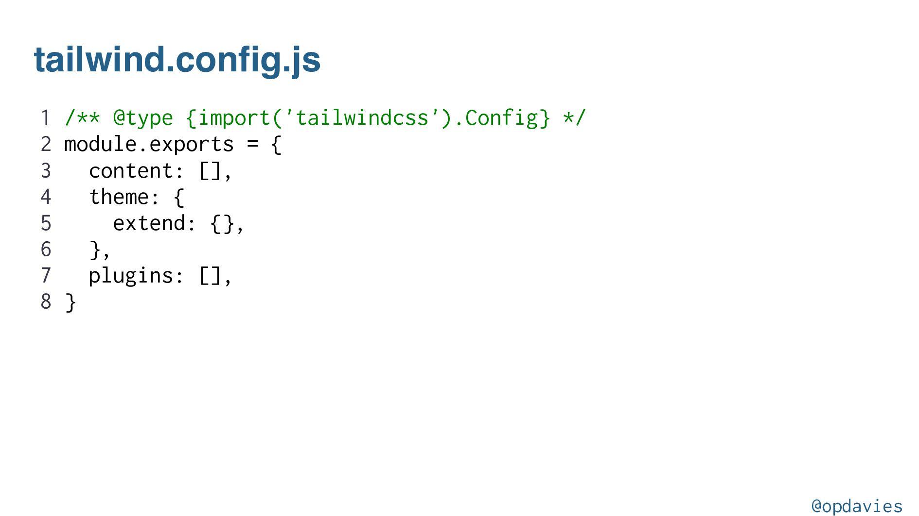 npx tailwind init --full @opdavies