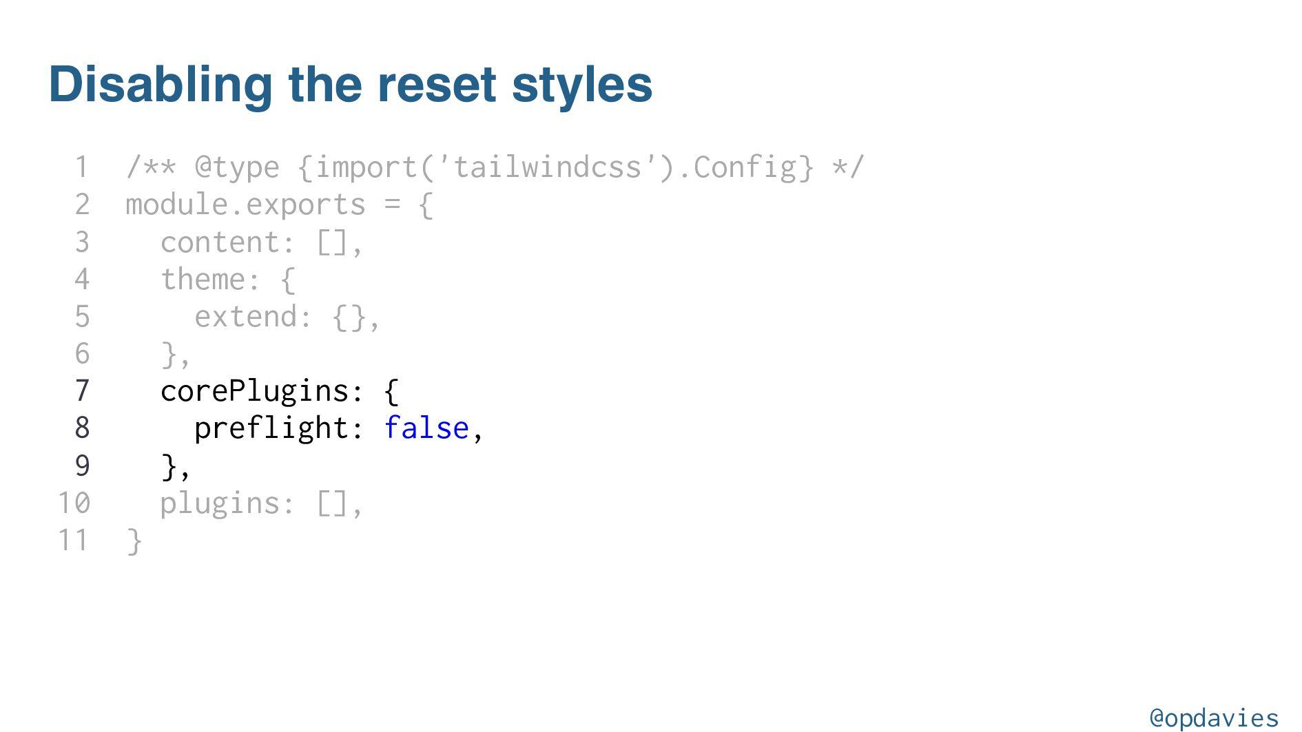 npm install --save-dev tailwindcss-list-reset @...