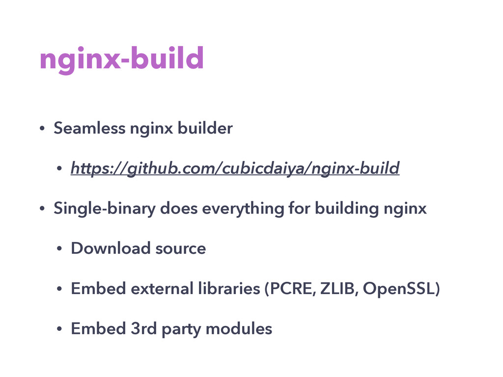 nginx-build • Seamless nginx builder • https://...