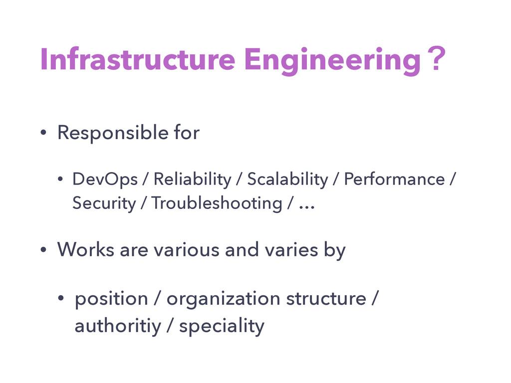 Infrastructure Engineeringʁ • Responsible for •...