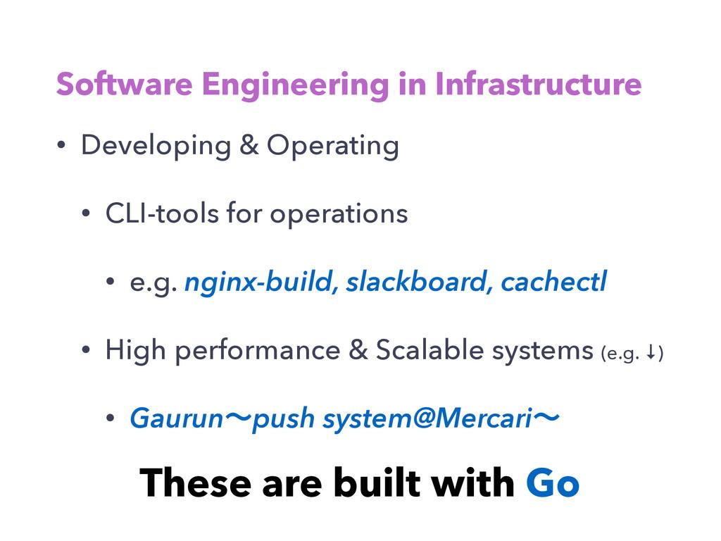 Software Engineering in Infrastructure • Develo...