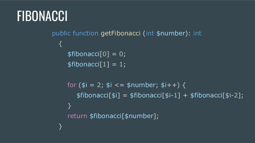 FIBONACCI public function getFibonacci (int $nu...