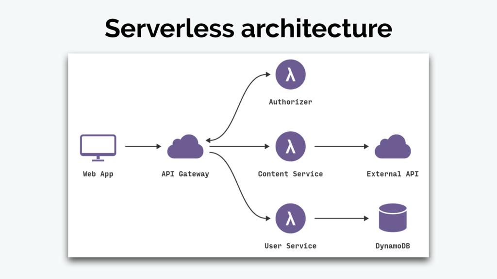 Serverless architecture