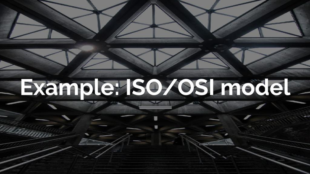 Example: ISO/OSI model
