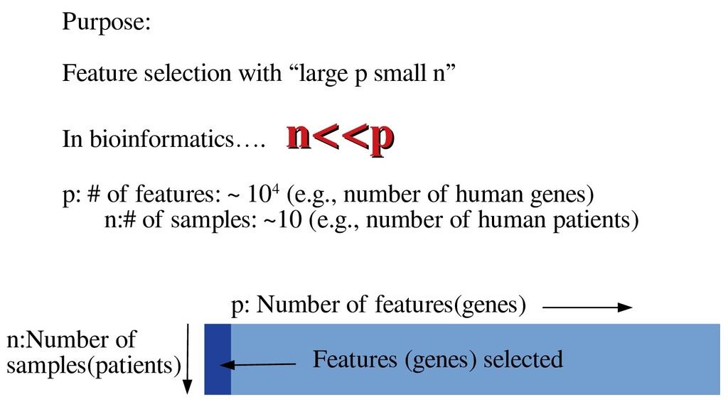 """Purpose: Feature selection with """"large p small ..."""