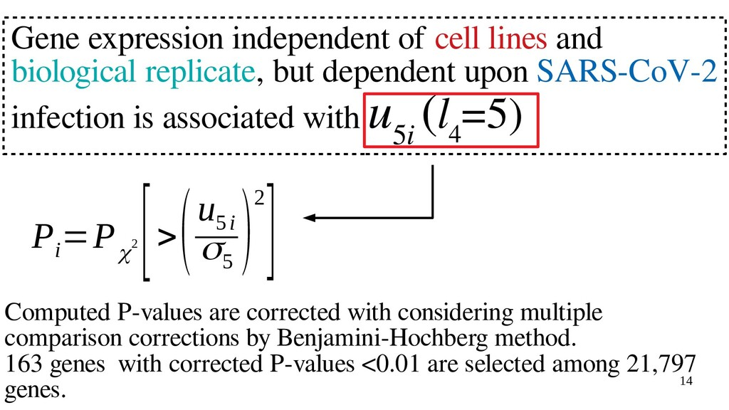 14 Gene expression independent of cell lines an...