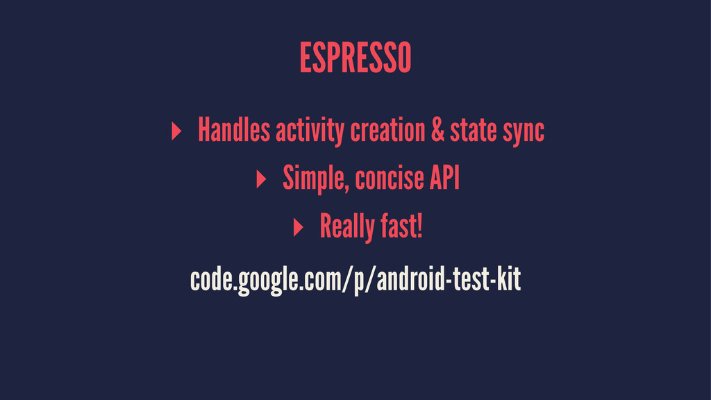 ESPRESSO ▸ Handles activity creation & state sy...
