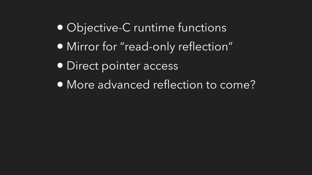 """• Objective-C runtime functions • Mirror for """"r..."""
