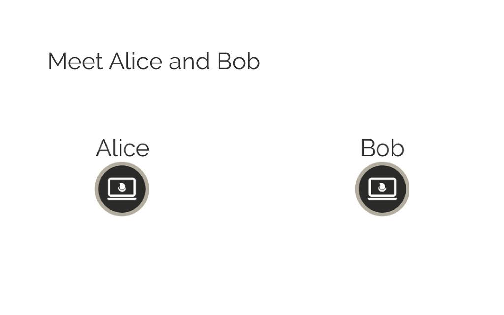 Meet Alice and Bob