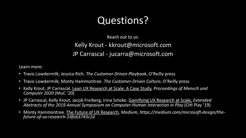 Questions? Reach out to us: Kelly Krout - kkrou...