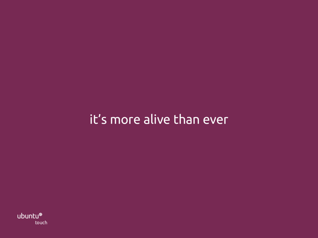  touch UBports Foundation it's more alive than...