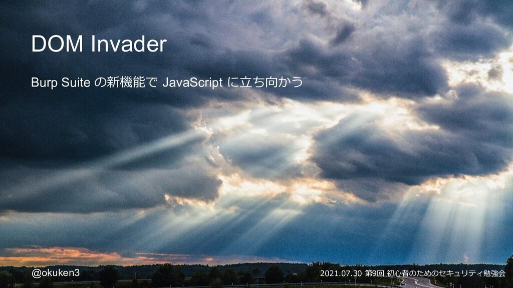 DOM Invader Burp Suite の新機能で JavaScript に立ち向かう ...