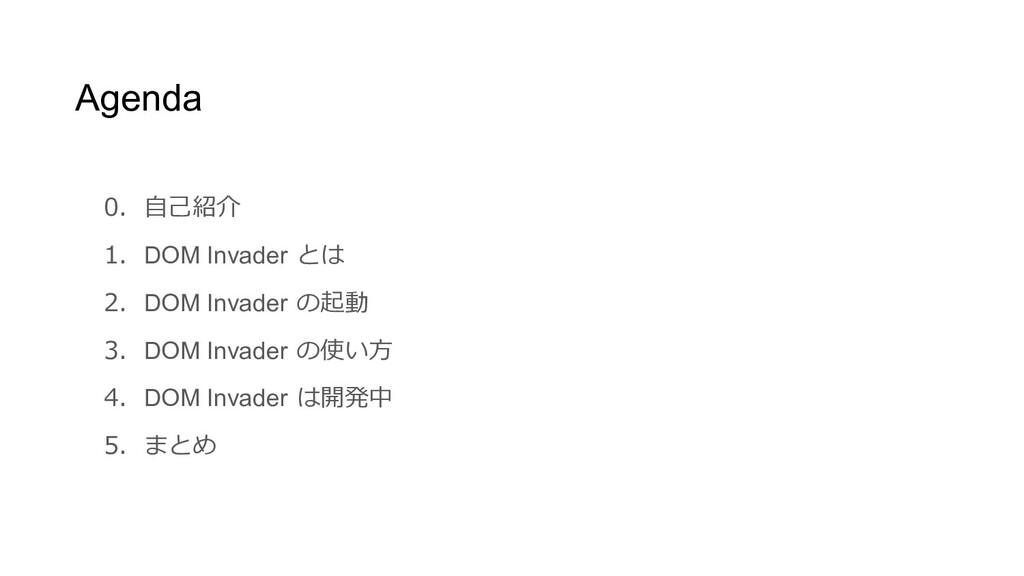 0. 自己紹介 1. DOM Invader とは 2. DOM Invader の起動 3....