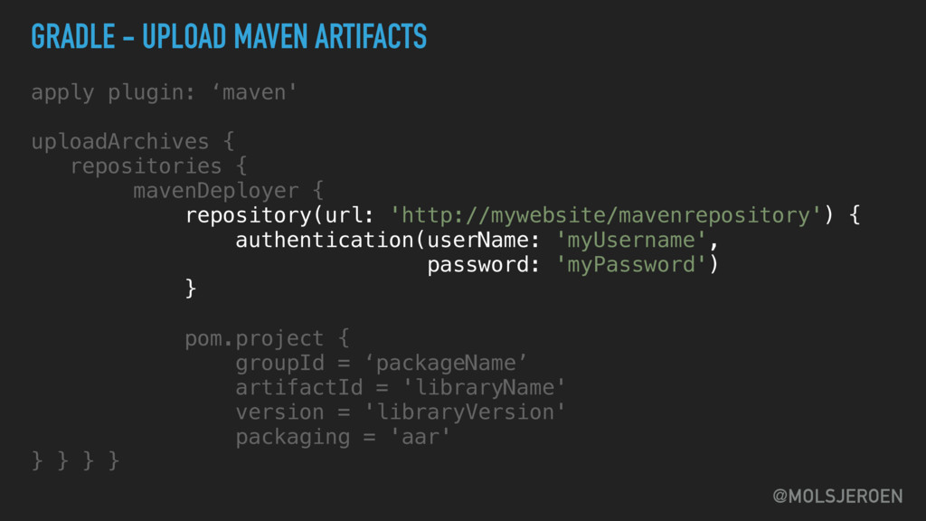 @MOLSJEROEN GRADLE - UPLOAD MAVEN ARTIFACTS app...