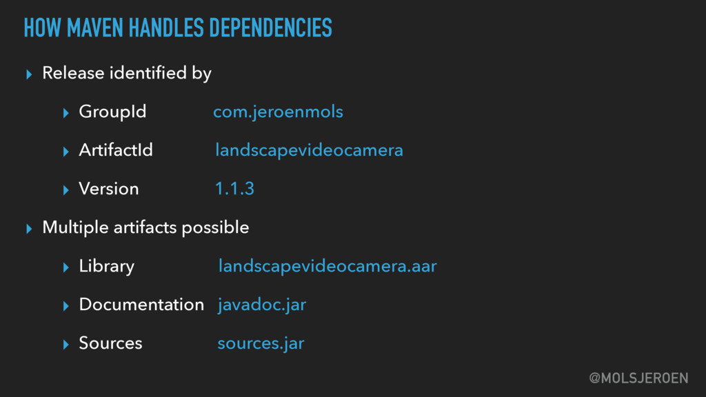 @MOLSJEROEN HOW MAVEN HANDLES DEPENDENCIES ▸ Re...