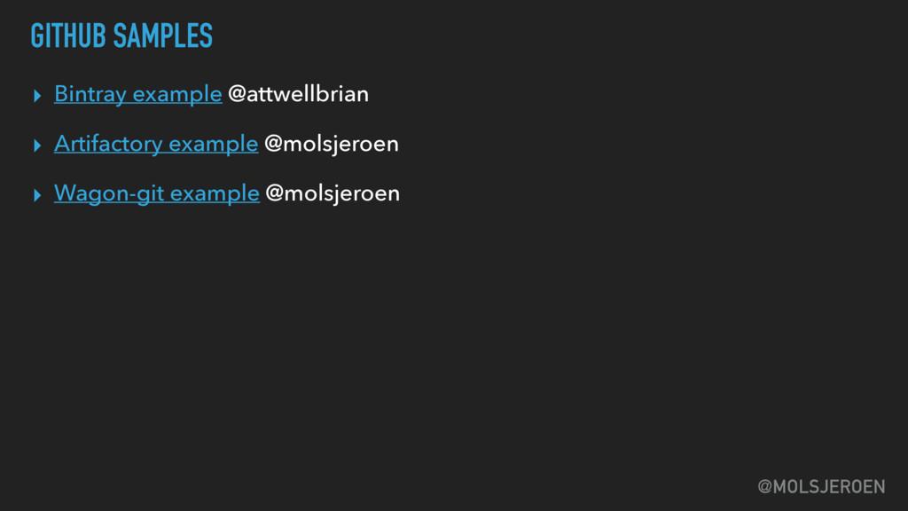 @MOLSJEROEN GITHUB SAMPLES ▸ Bintray example @a...