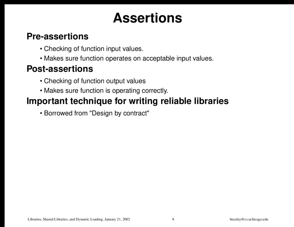 Libraries, Shared Libraries, and Dynamic Loadin...