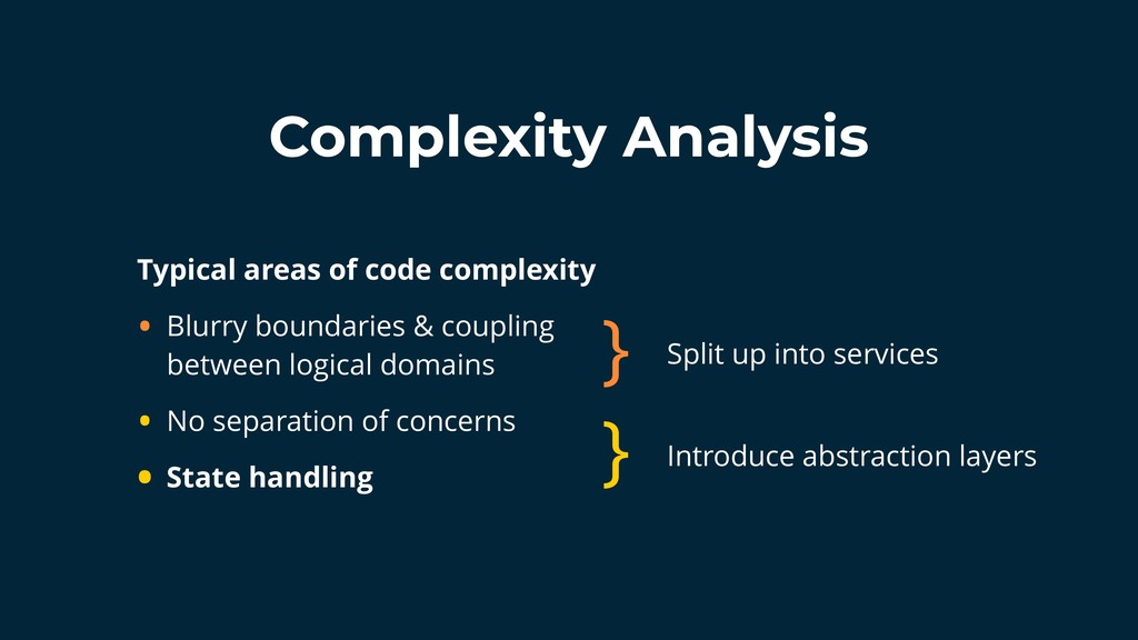 Complexity Analysis Typical areas of code compl...