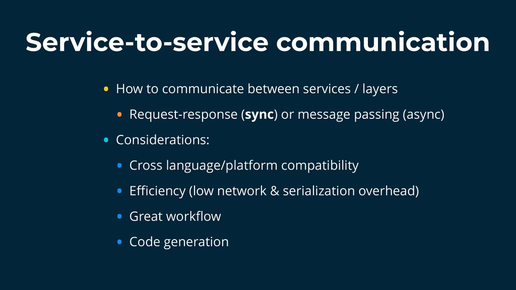 Service-to-service communication • How to commu...