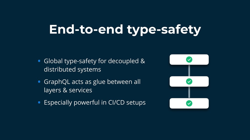 End-to-end type-safety • Global type-safety for...