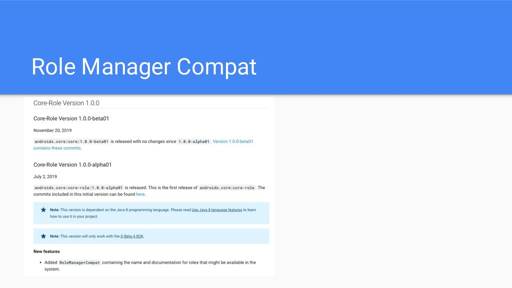 Role Manager Compat