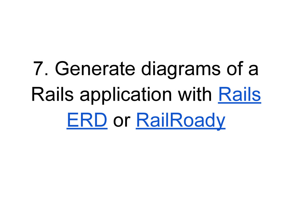 7. Generate diagrams of a Rails application wit...