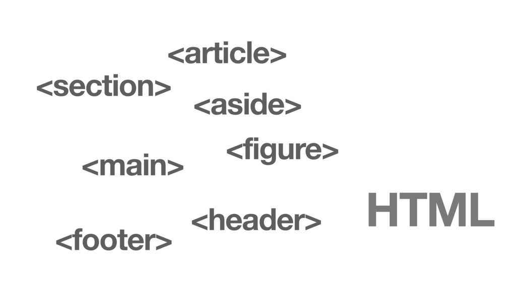 HTML <article> <section> <main> <aside> <figure...