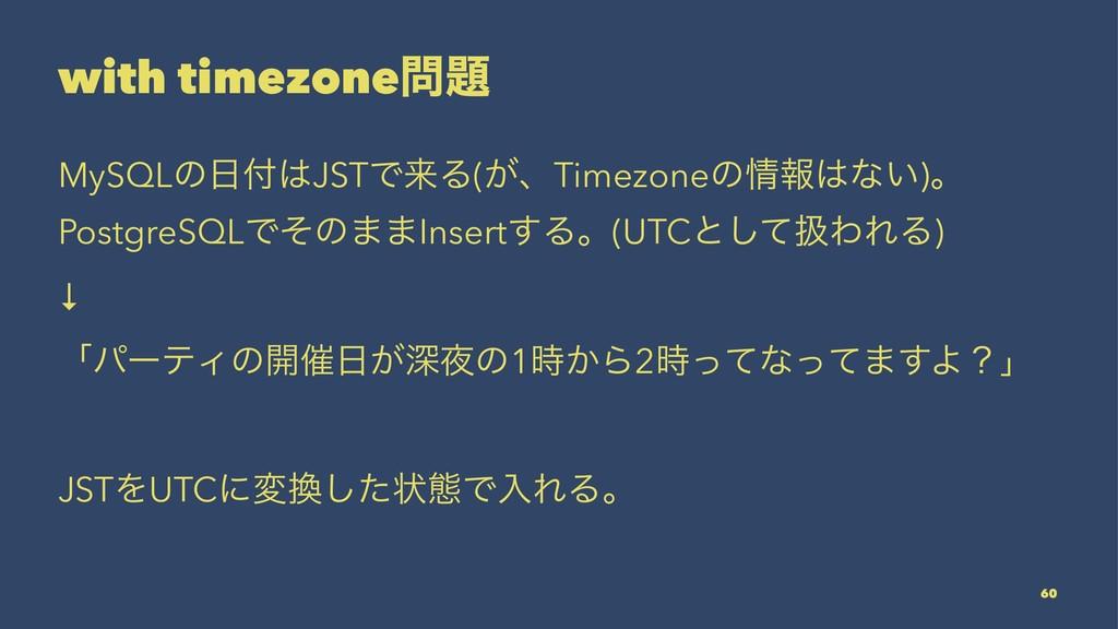 with timezone MySQLͷJSTͰདྷΔ(͕ɺTimezoneͷใͳ...