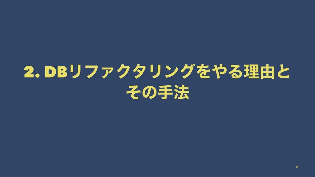 2. DBϦϑΝΫλϦϯάΛΔཧ༝ͱ ͦͷख๏ 7