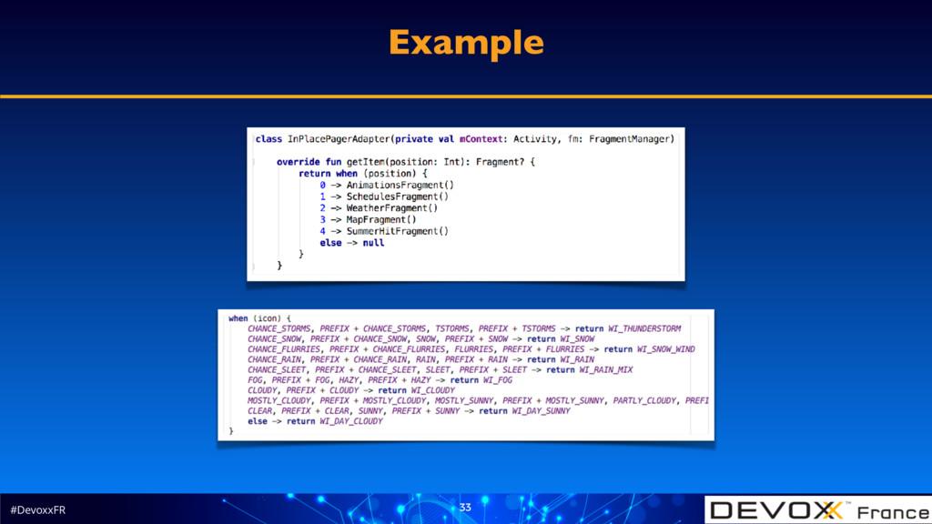 #DevoxxFR 33 Example