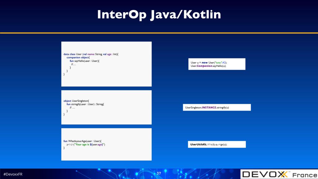 #DevoxxFR 37 InterOp Java/Kotlin object UserSin...