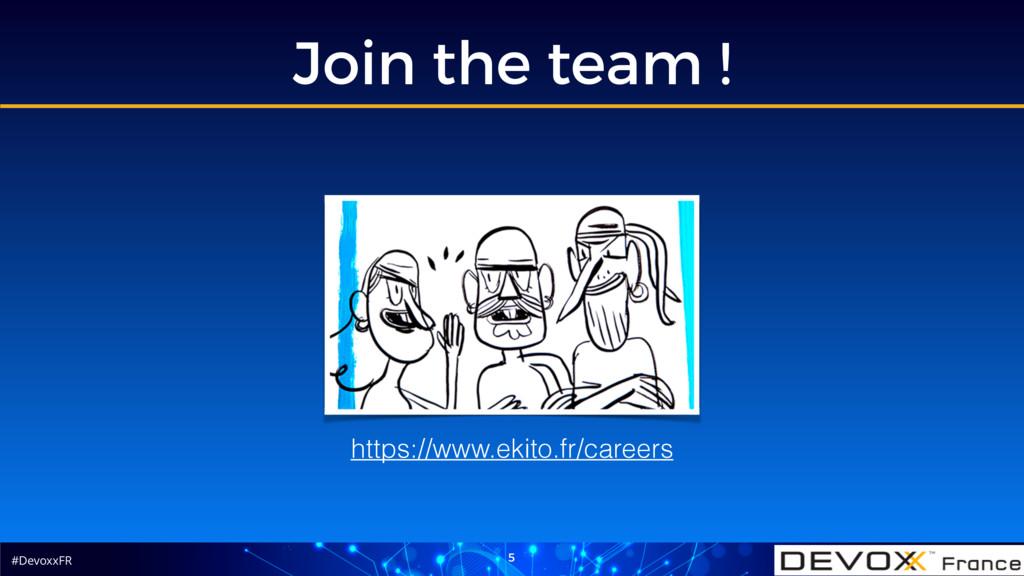 #DevoxxFR Join the team ! 5 https://www.ekito.f...