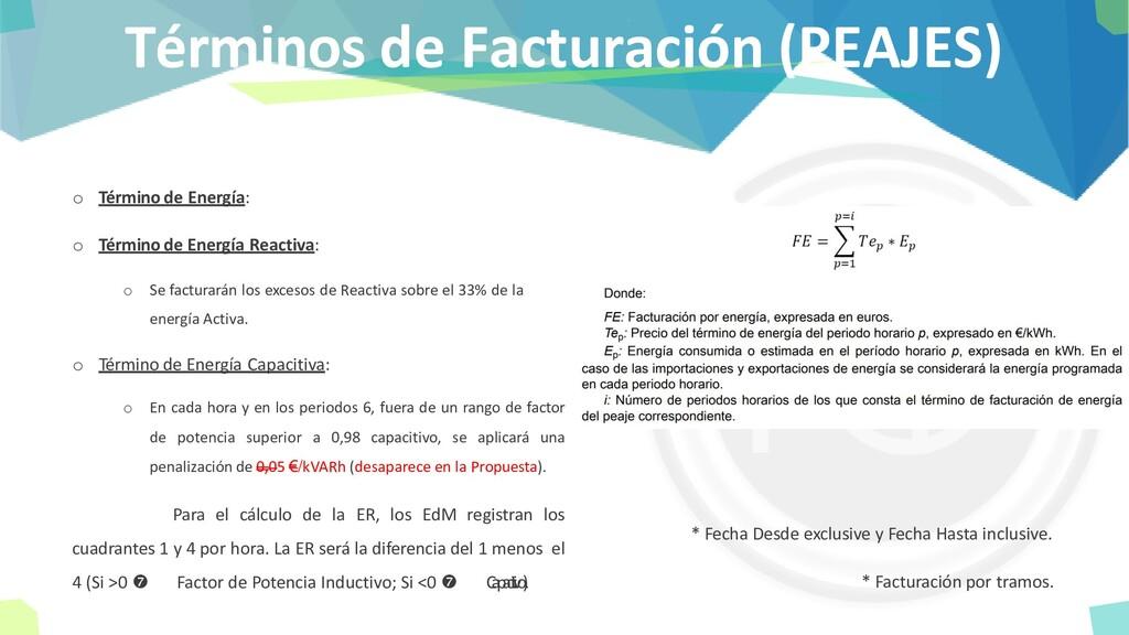 Términos de Facturación (PEAJES) o Término de E...