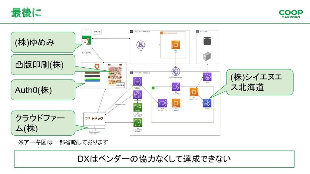 最後に DXはベンダーの協力なくして達成できない (株)ゆめみ 凸版印刷(株) Auth0(株...