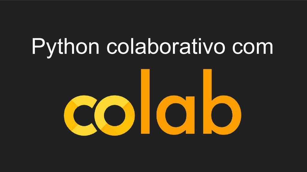 Python colaborativo com