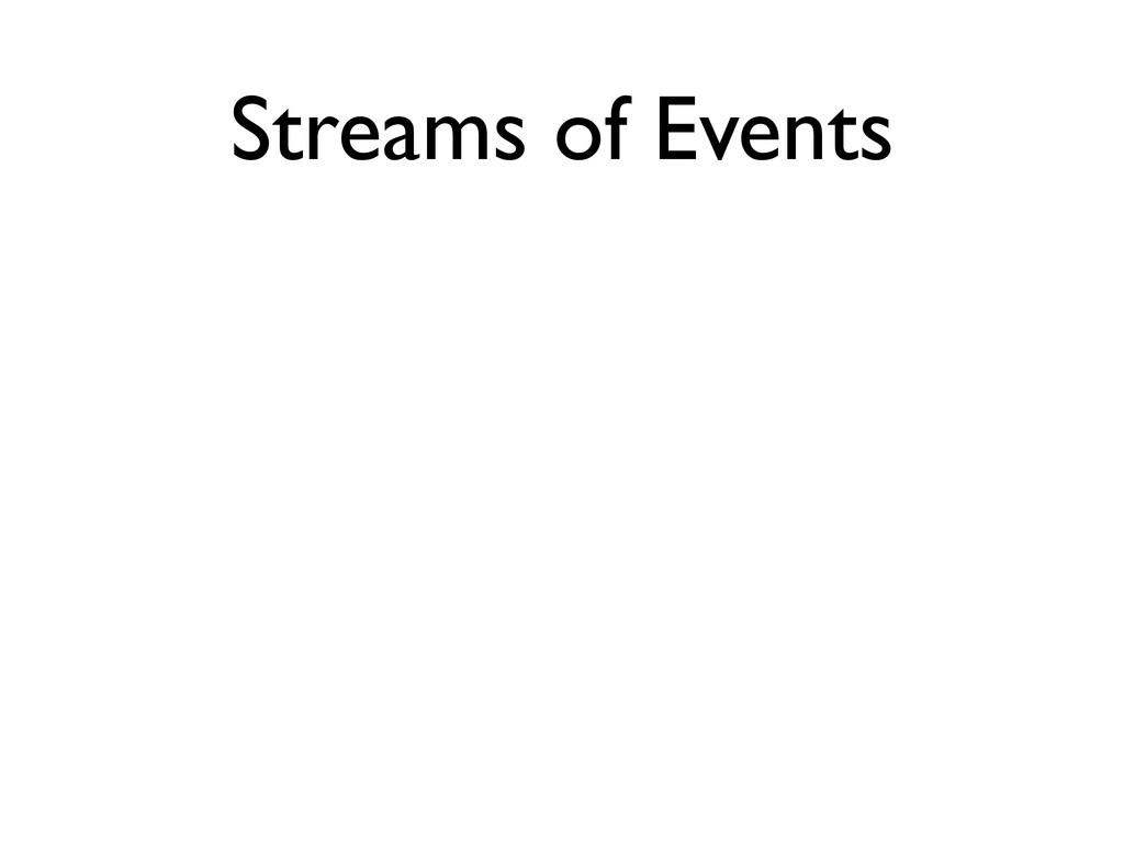 Streams of Events