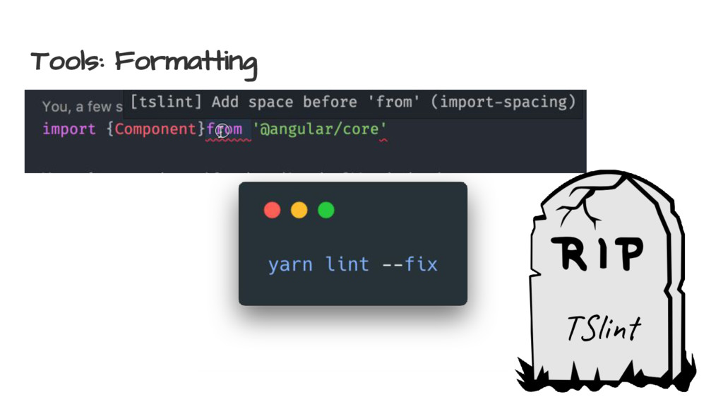 Tools: Formatting T li