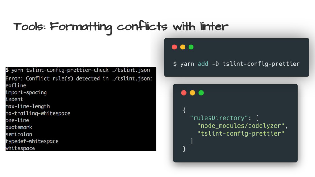 Tools: Formatting conflicts with linter
