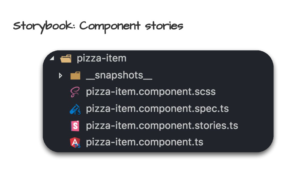 Storybook: Component stories