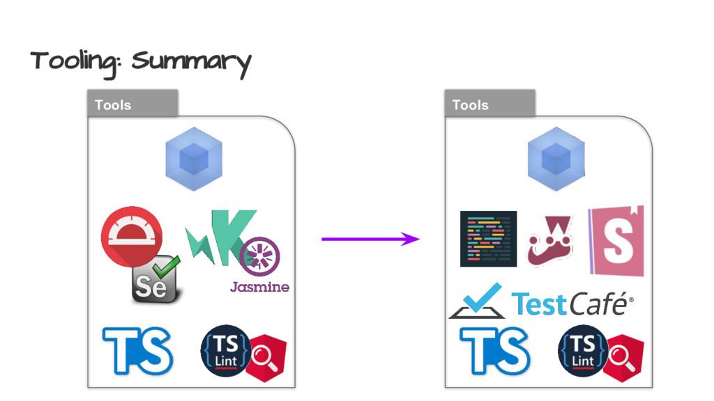Tooling: Summary Tools Tools