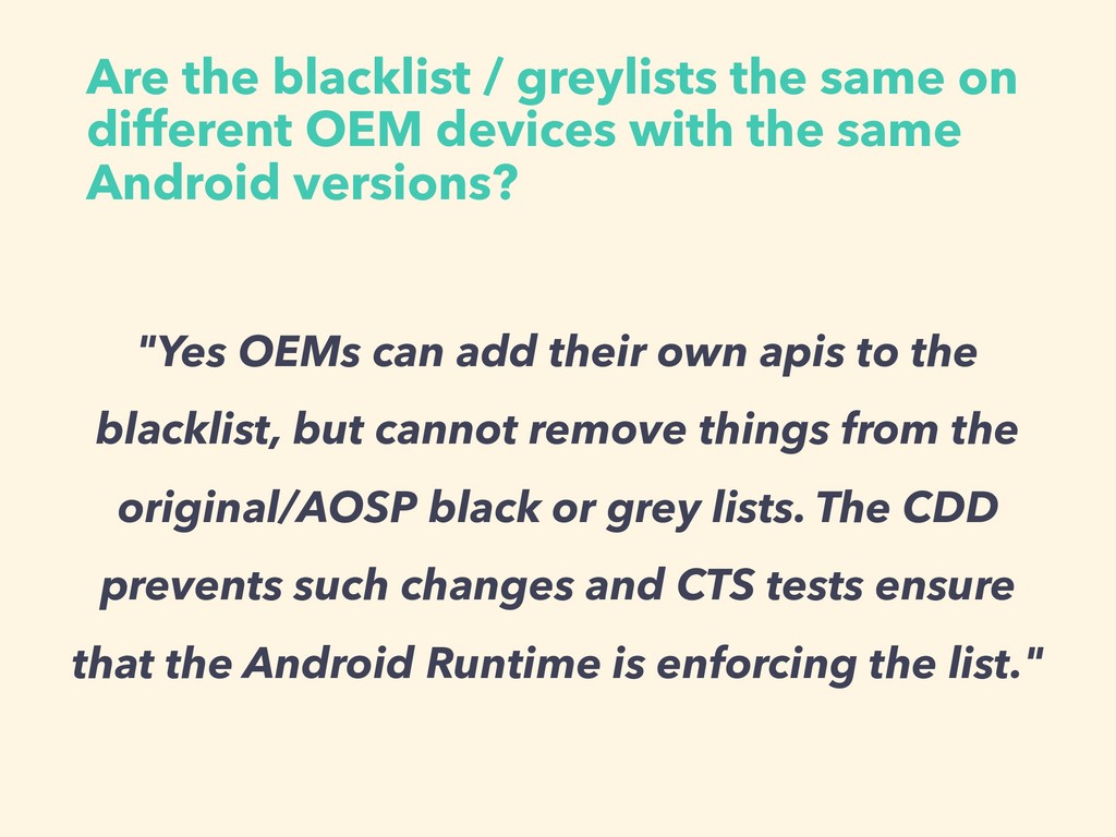 Are the blacklist / greylists the same on diffe...
