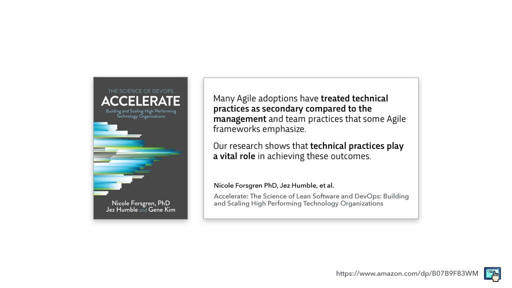 Many Agile adoptions have treated technical pra...