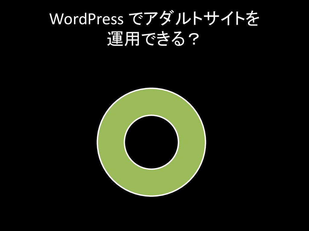 WordPress でアダルトサイトを 運用できる?