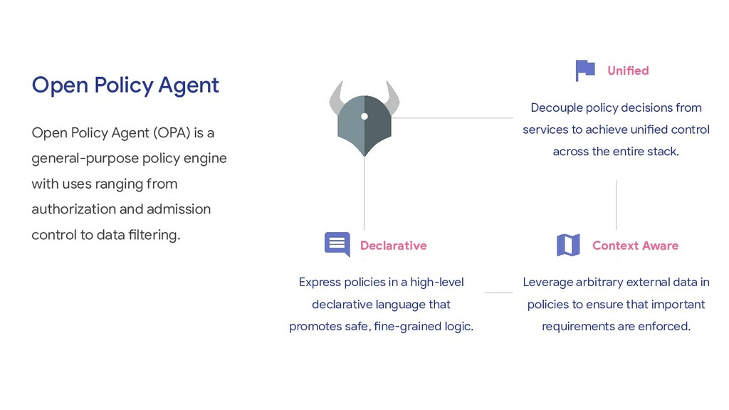 Open Policy Agent Open Policy Agent (OPA) is a ...