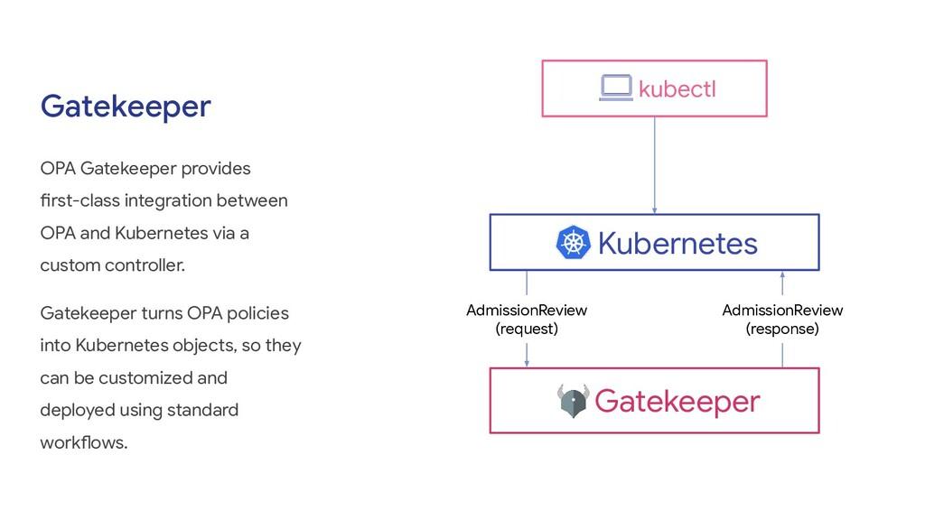 Gatekeeper OPA Gatekeeper provides first-class ...