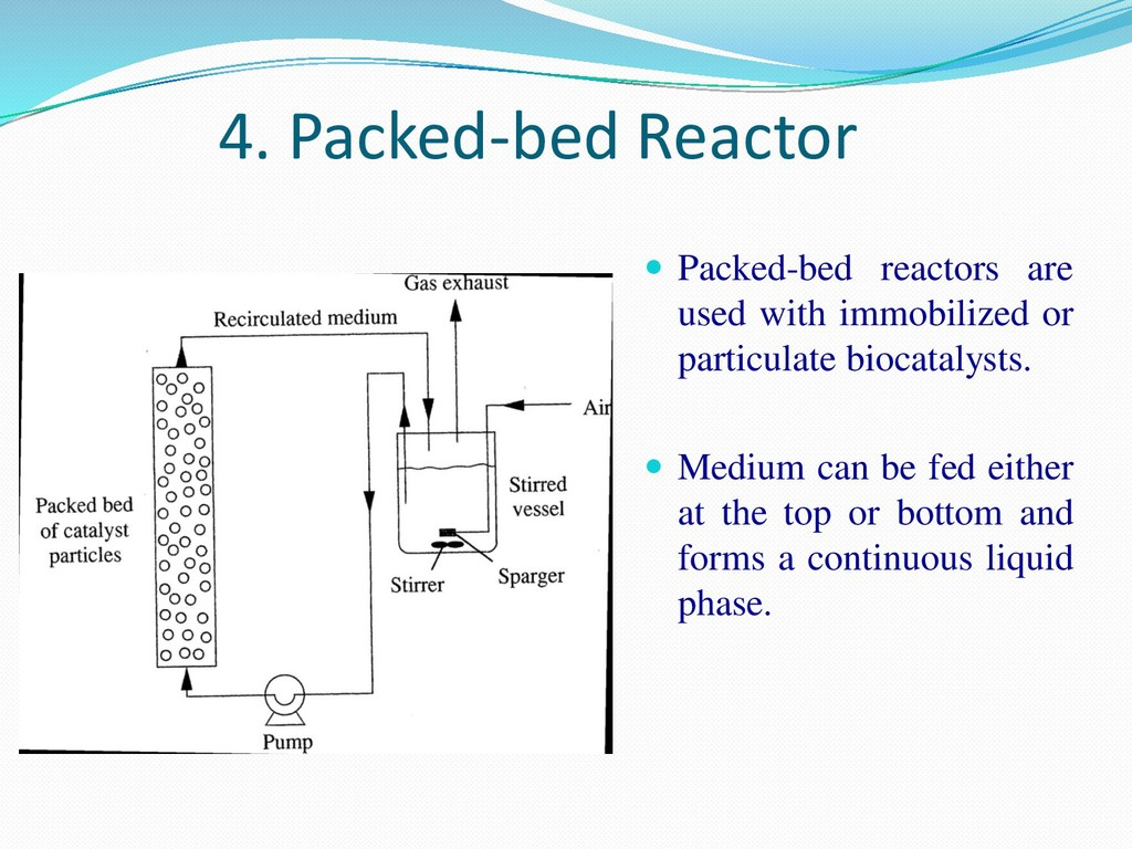 4. Packed-bed Reactor  Packed-bed reactors are...