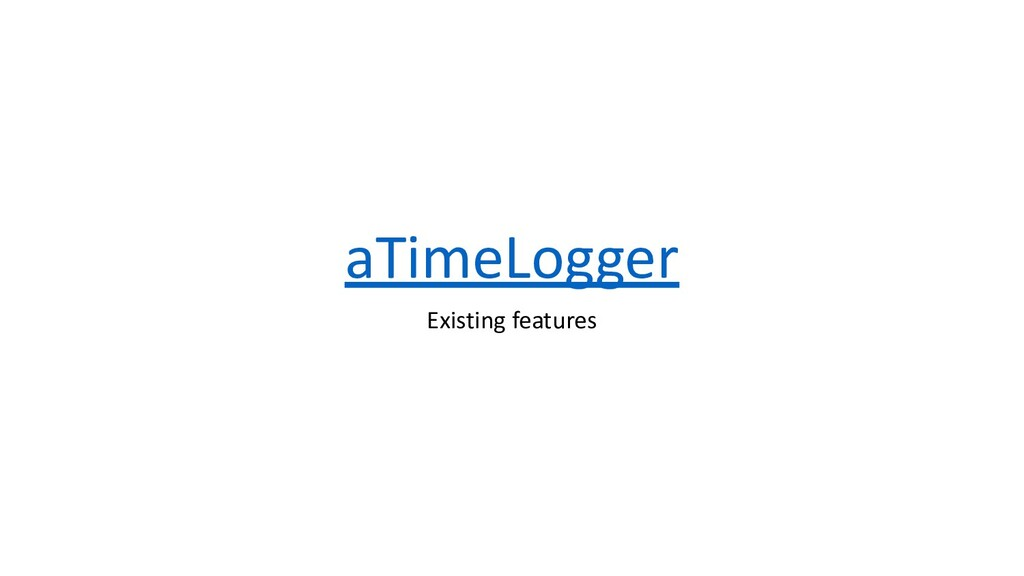 aTimeLogger Existing features