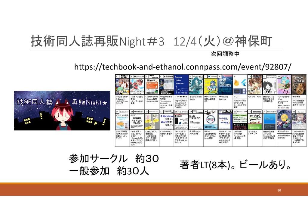 技術同人誌再販Night#3 12/4(火)@神保町 10 参加サークル 約30 一般参加 約...